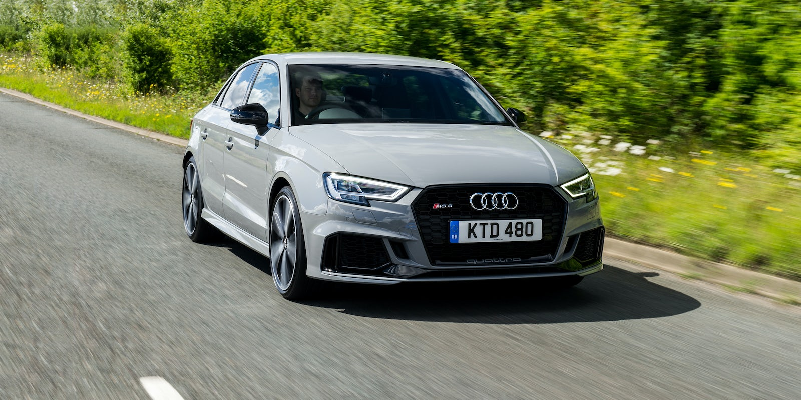 new audi rs3 saloon review carwow. Black Bedroom Furniture Sets. Home Design Ideas