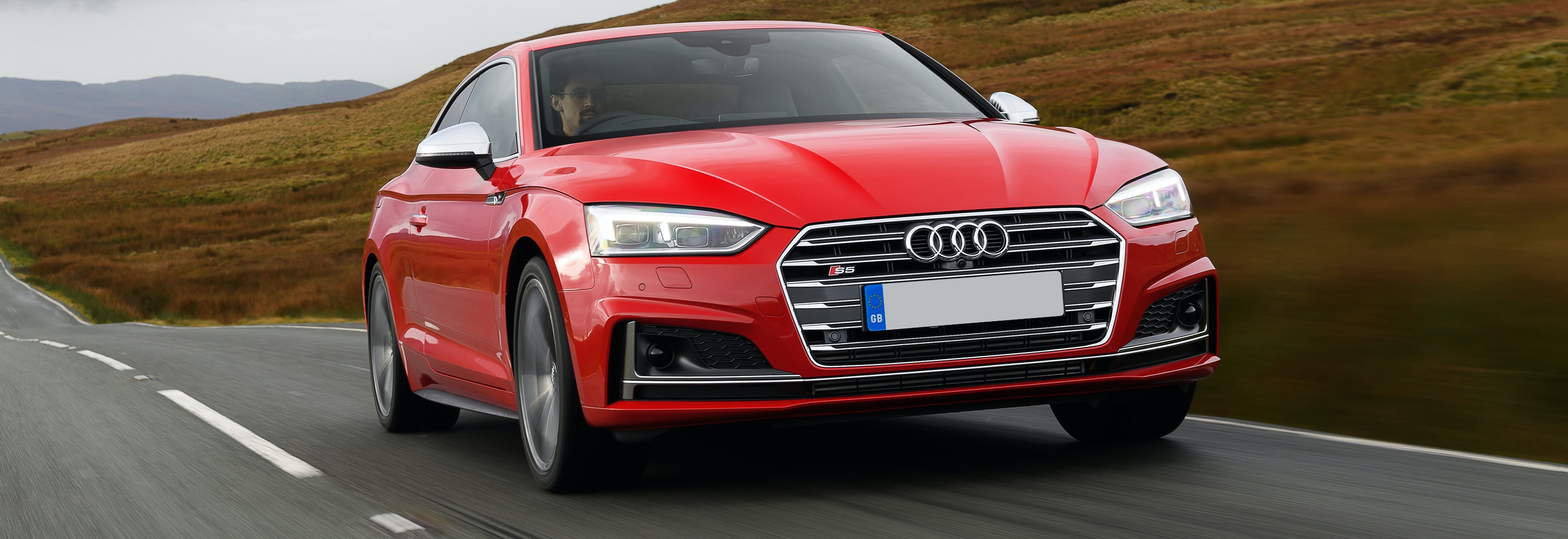 2018 Audi S5 Red Driving Front