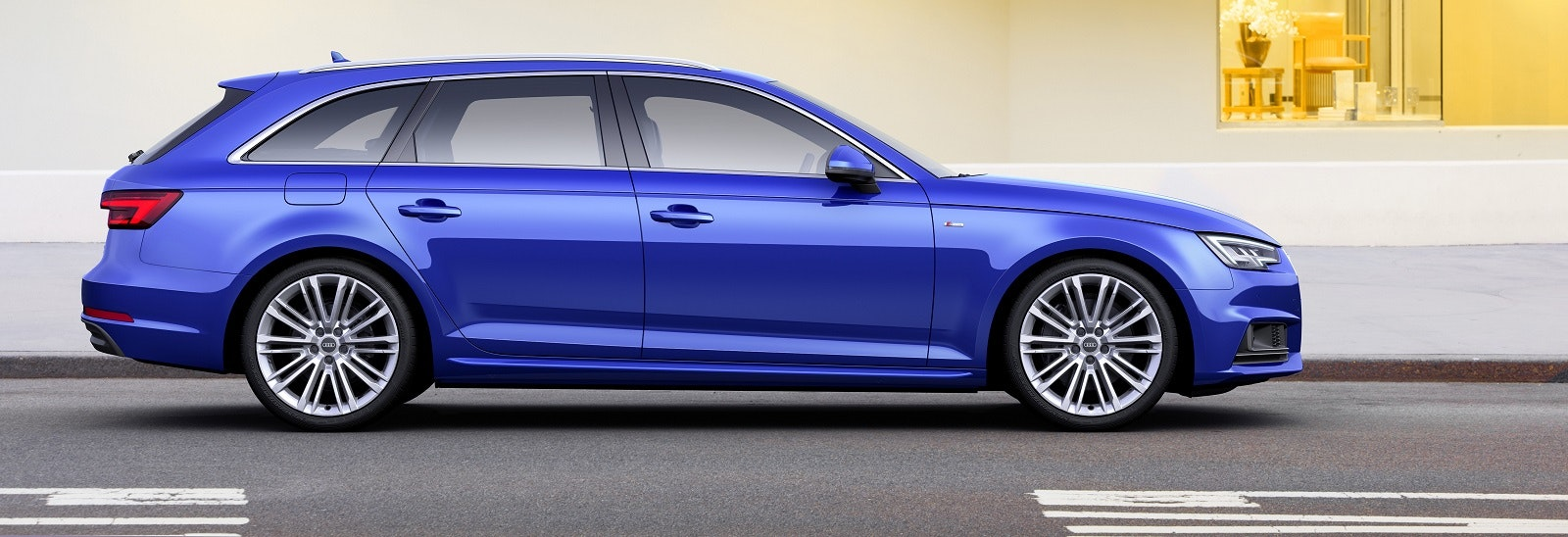 Blue Audi A4 Avant estate