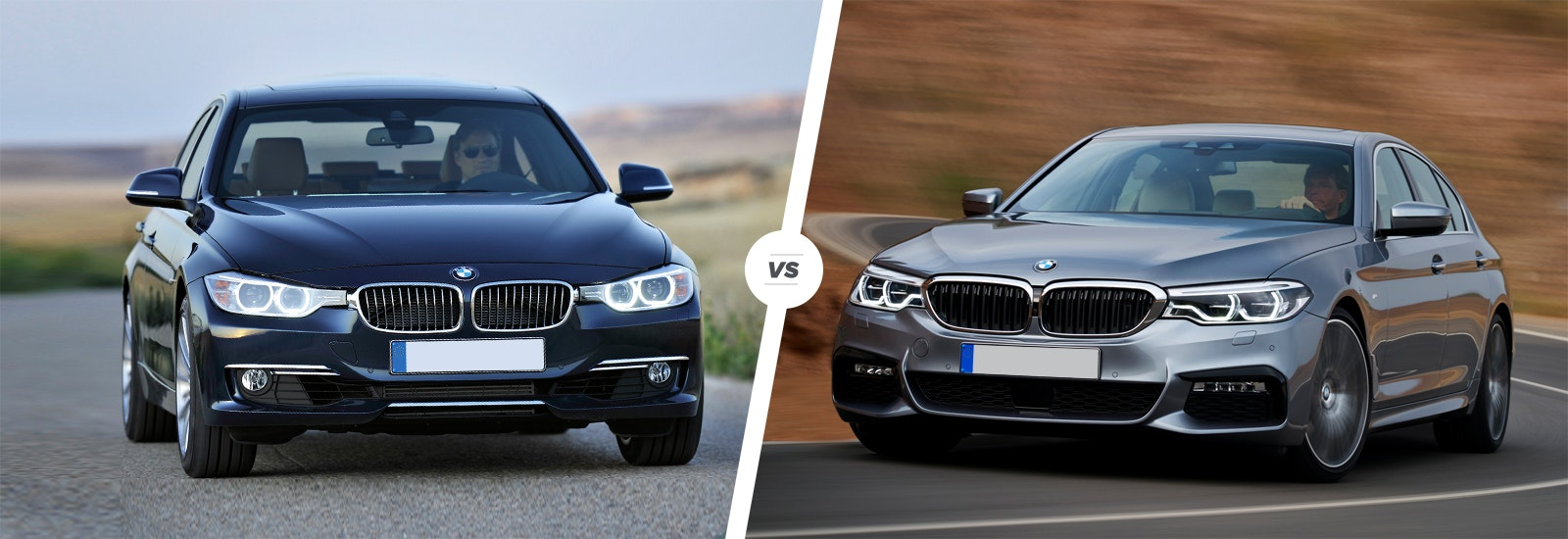 BMW 3 Series On The Left, BMW 5 Series On The Right