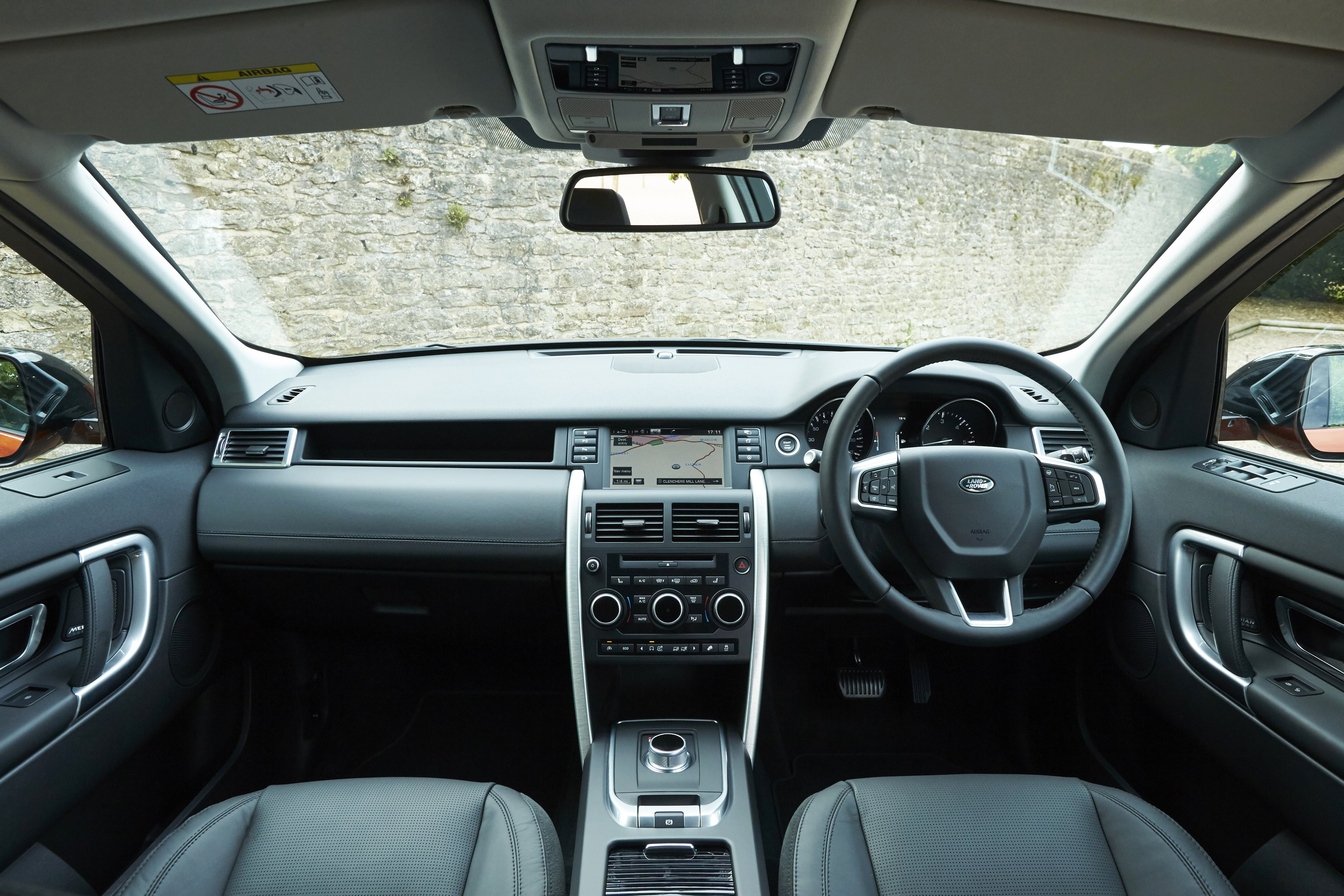land rover discovery sport interior. Much Of The Cabin Is Trimmed In Dull Grey Plastic Land Rover Discovery Sport Interior D