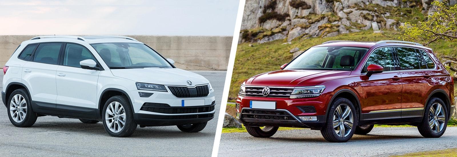 Skoda Karoq vs VW Tiguan – which is best