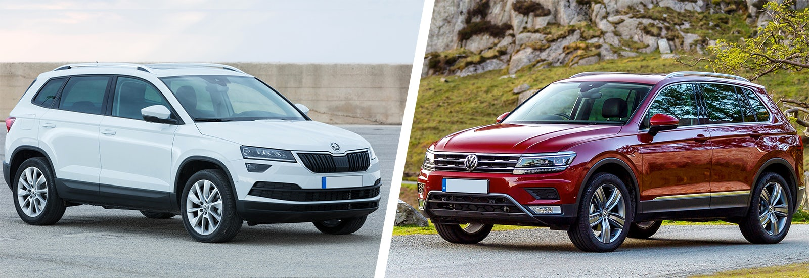 skoda karoq vs vw tiguan which is best carwow. Black Bedroom Furniture Sets. Home Design Ideas