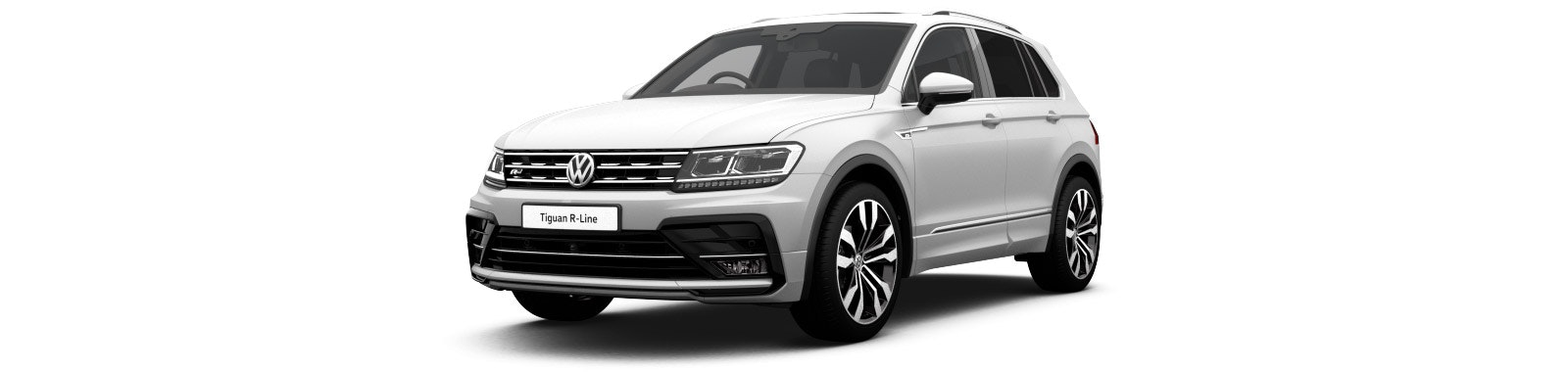 Pure White VW Tiguan