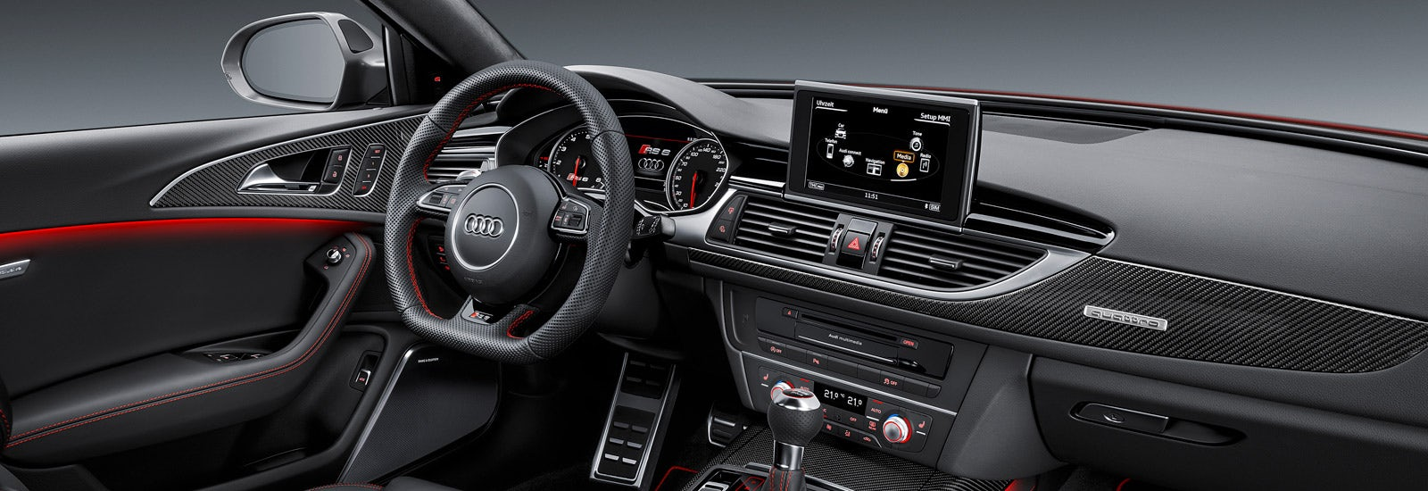 Audi Rs6 And Rs7 Performance Models Revealed Carwow 2017 Sportback With A Red Colour The Interior Of Include As Standard Supportive Alcantara Rs Super Sport Seats Coded Carbon Fibre Detailing