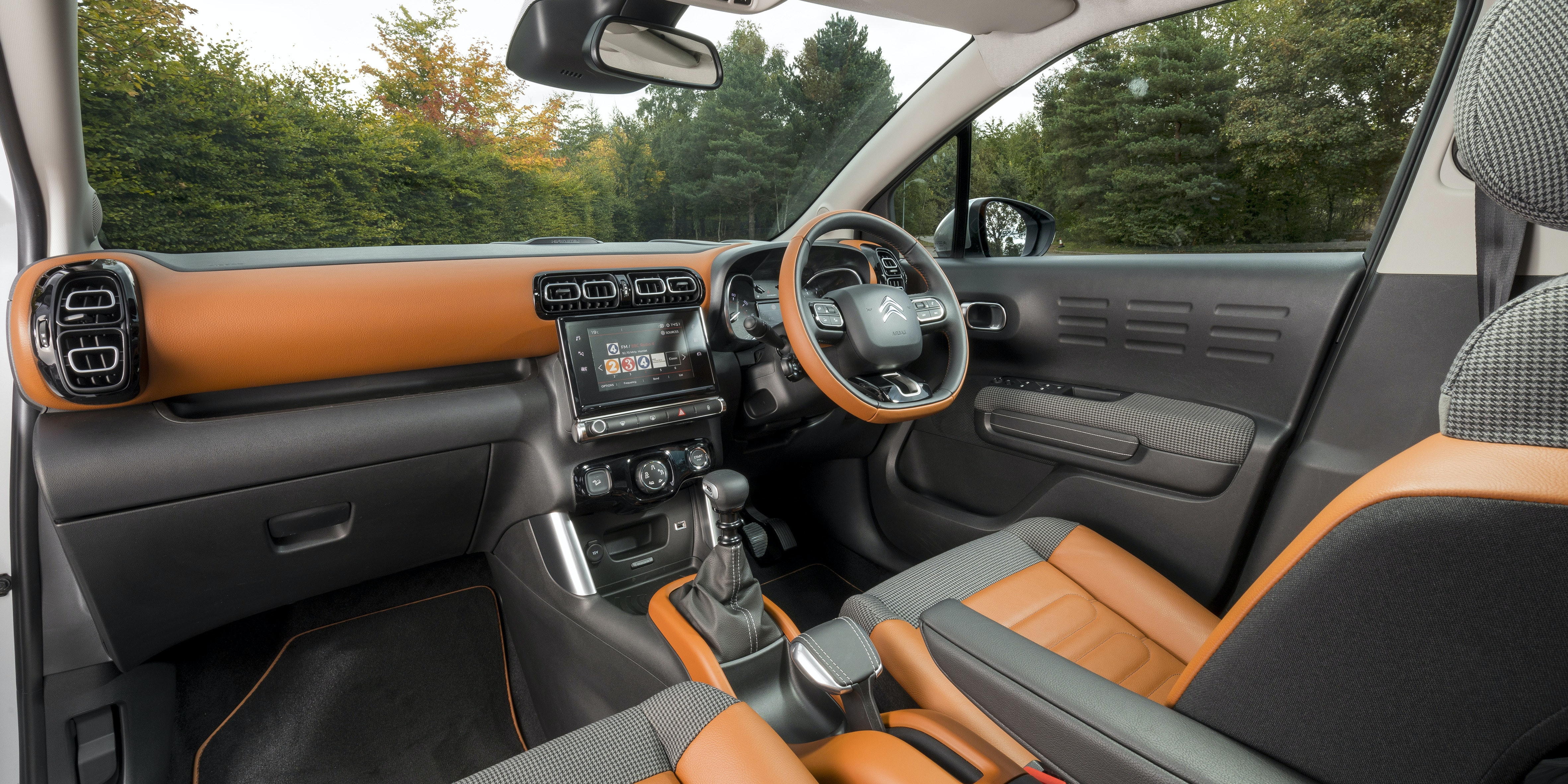 The Aircross' interior is smart looking and functional