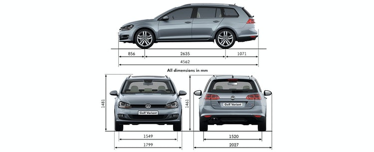 Vw Golf Estate Alltrack Sizes Dimensions Guide Carwow