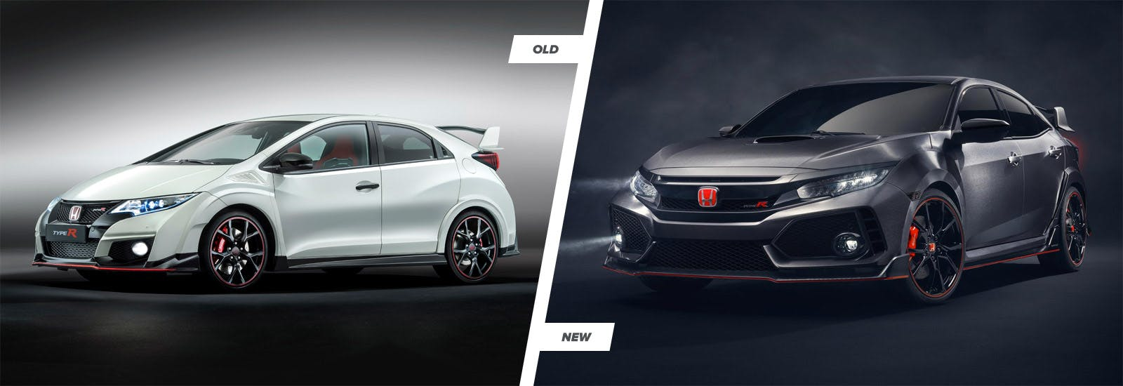 Honda civic type r new vs old compared carwow for Honda fit vs civic
