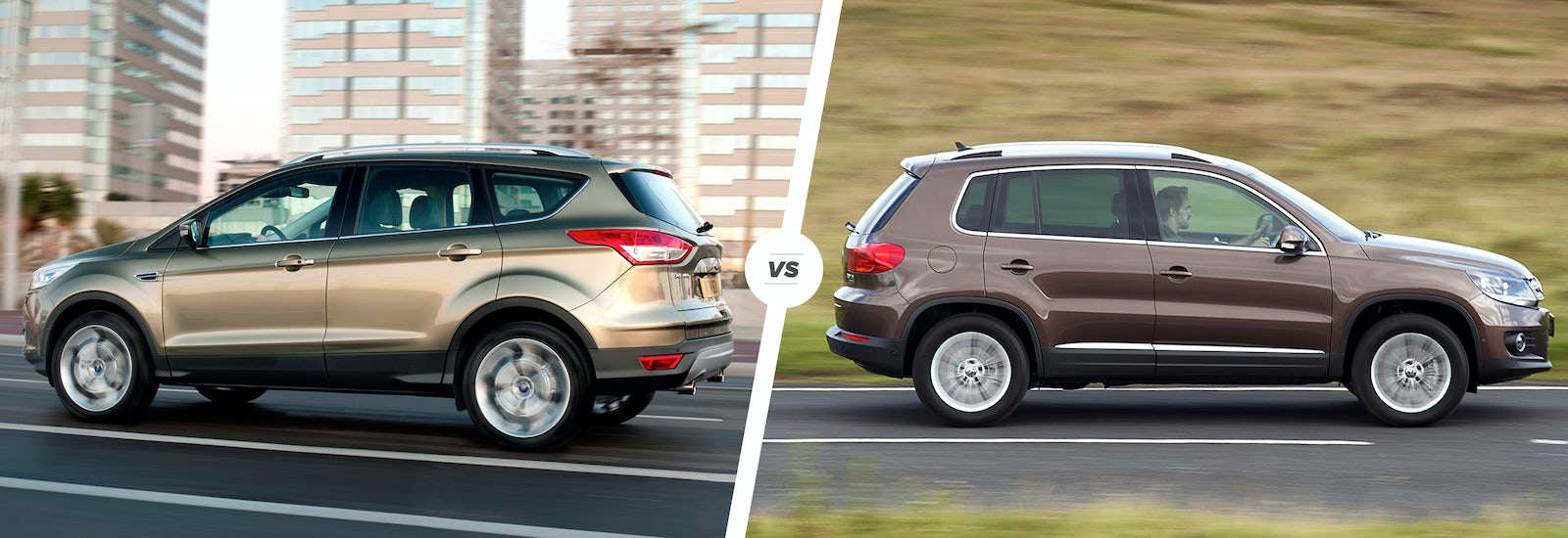 Ford Kuga Vs Vw Tiguan Crossovers Compared Carwow 2014 Focus Stereo Upgrade Sadly The Old Kugas Performance Option Brilliant 25 Litre Five Cylinder Turbo Derived From Previous St Hasnt Made It Into Current