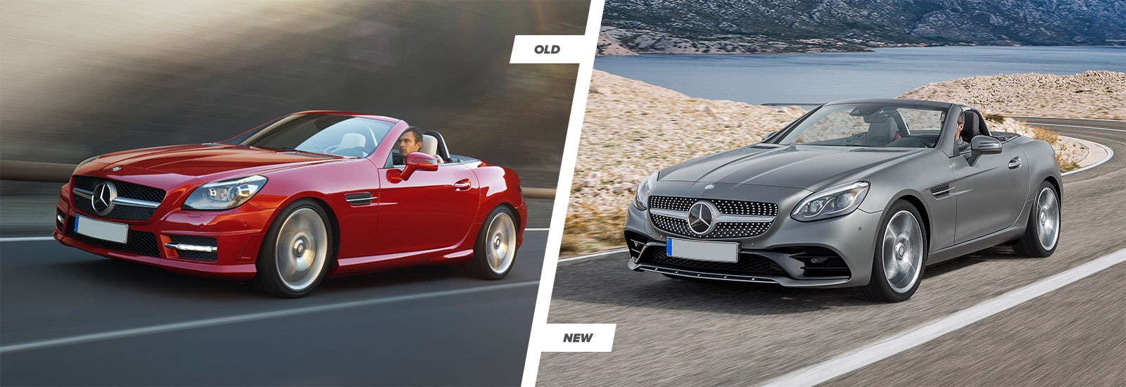 Mercedes Slc Vs Slk Facelift Comparison Carwow Kia Sportage Fuse Box 2012 At First Glance Both Models Look Very Similar You Still Get The Long Bonnet And Rear Mounted Cabin Expected Of A Sports Car