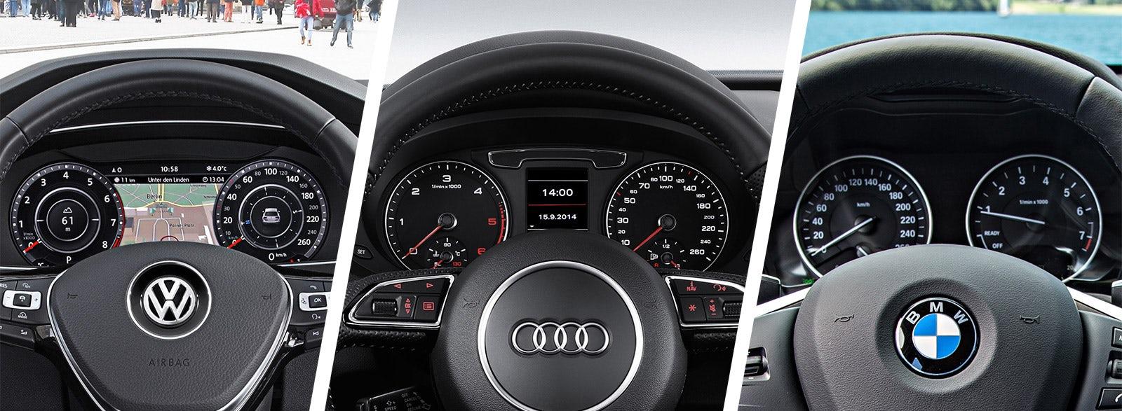 Audi Q3 Vs Vw Tiguan Bmw X1 Dials And Gauges Dashboard